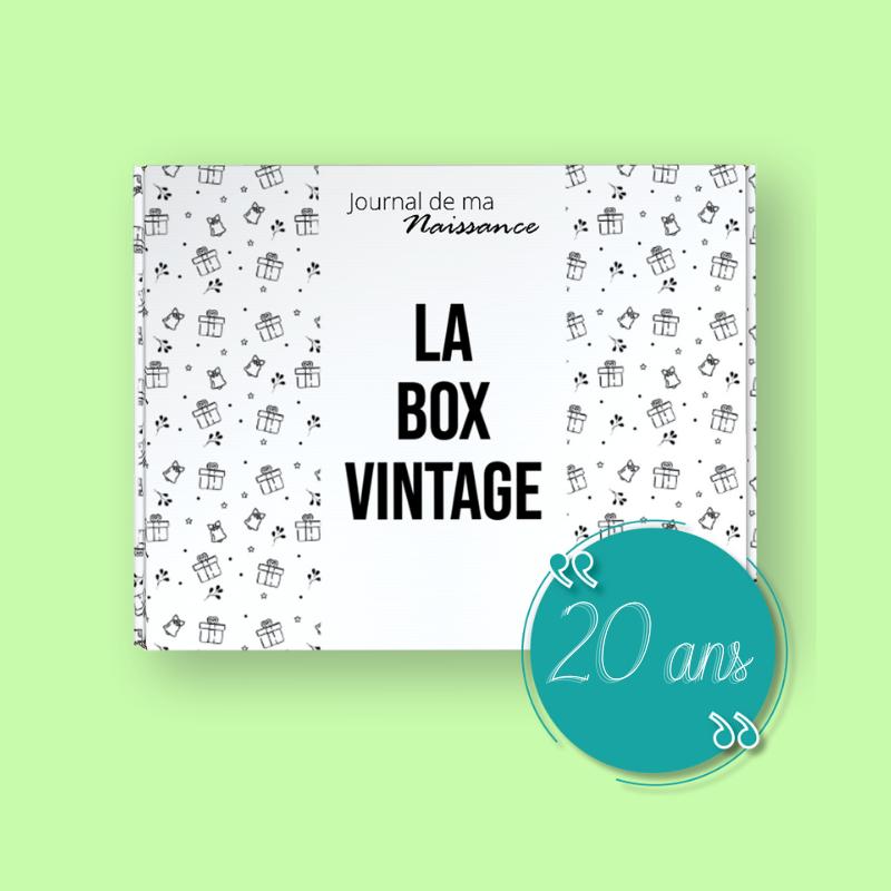 VINTAGE BOX 2001 Packaging anniversaire 20 ans cadeau