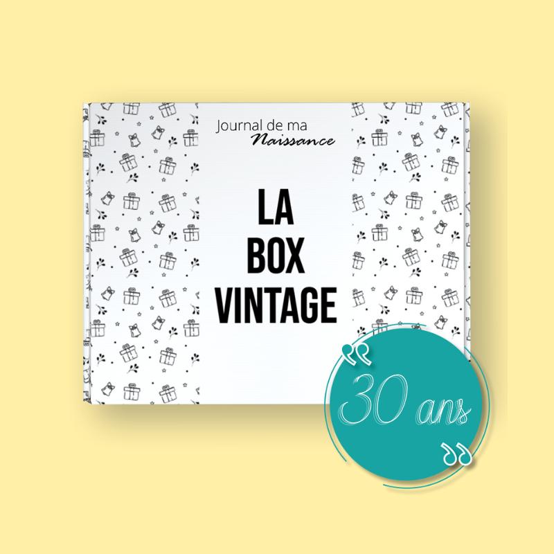 BOX VINTAGE 1991 packaging box cadeau anniversaire 30 ans