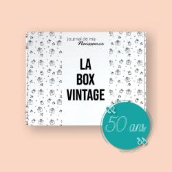 BOX VINTAGE 1971 Packaging box vintage 50 ans cadeau anniversaire