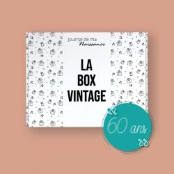BOX VINTAGE 1961 packaging cadeau 60 ans anniversaire retro