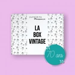 BOX VINTAGE anniversaire 70 ans de l'année 1951 packaging original
