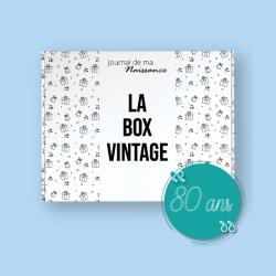 BOX VINTAGE de l'année 1941 Packaging cadeau 80 ans anniversaire