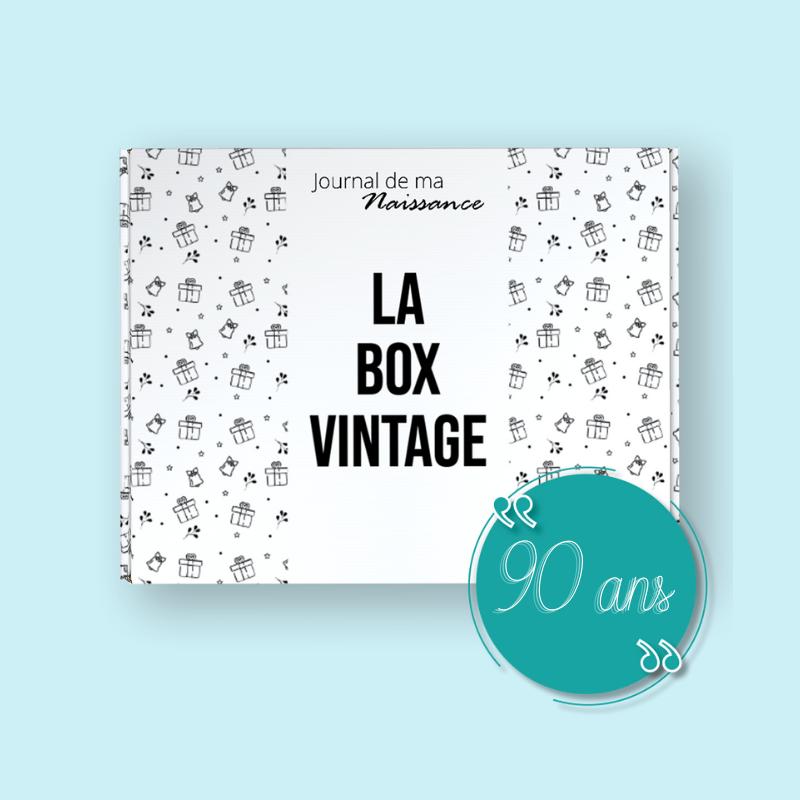 BOX VINTAGE ANNIVERSAIRE 90 ANS packaging cadeau de l'année  1931