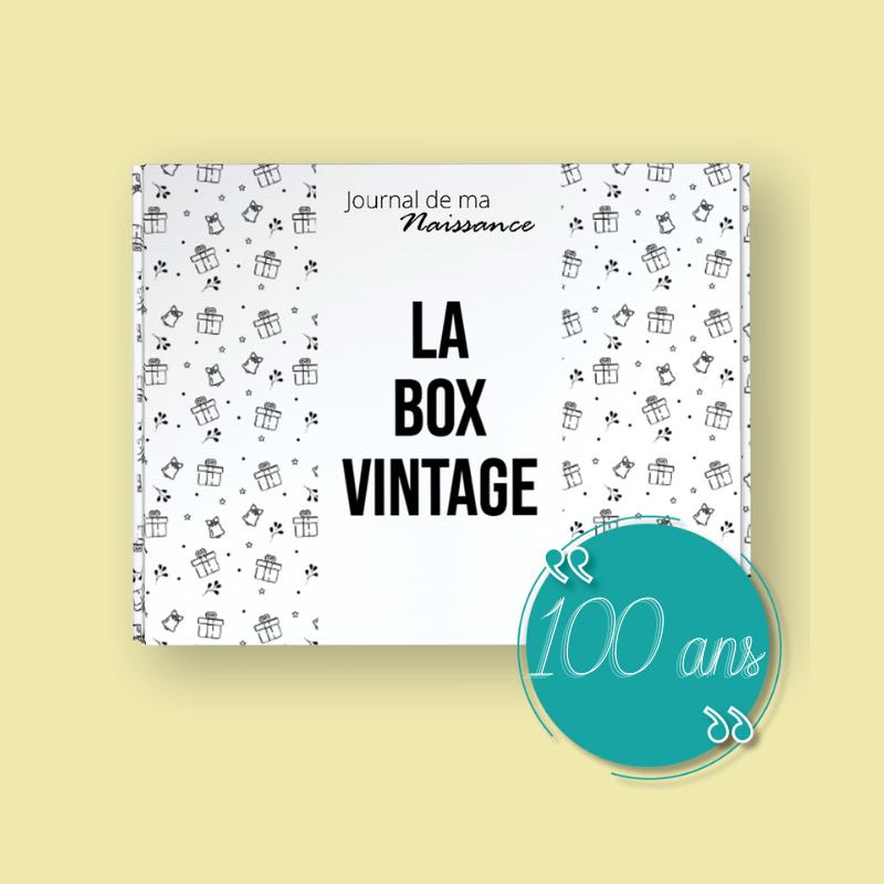 BOX VINTAGE anniversaire 100 ANS packaging année 1921 cadeau original box retro antan ancien époque